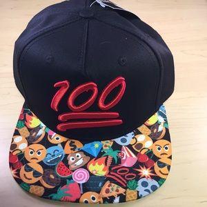 Emoji 100 baseball cap hat unisex one size